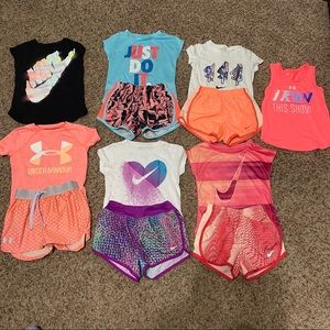 17 piece girls lot (nike, under armor, ivivva +++)